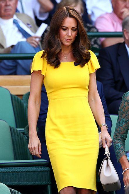 Kate Middleton podczas tegorocznego Wimbledonu