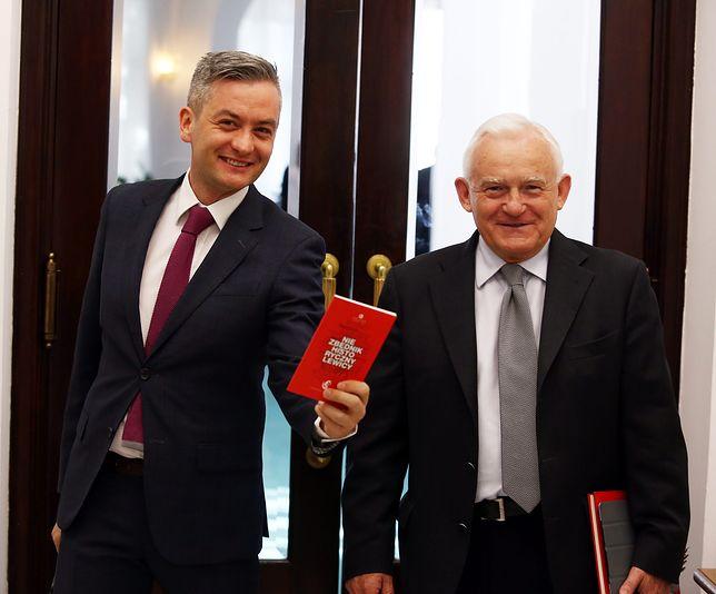 Wybory prezydenckie 2020. Robert Biedroń i Leszek Miller w Sejmie
