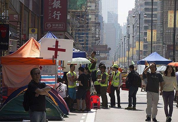 Jedna z ulic Hongkongu