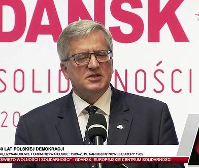 """Gdańsk. 4 czerwca. Komorowski ostro o rządzie PiS. """"Nie mogę tego pojąć"""""""