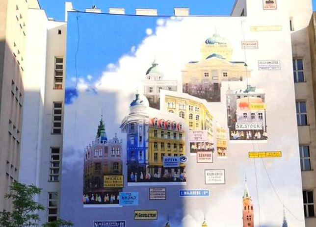 Warszawa. Mural autorstwa Tytusa Brzozowskiego, który namalował Warszawę żydowską to punkt zwycięskiej wycieczki po Śródmieściu