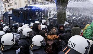 Starcia policji z członkami ANTIFY