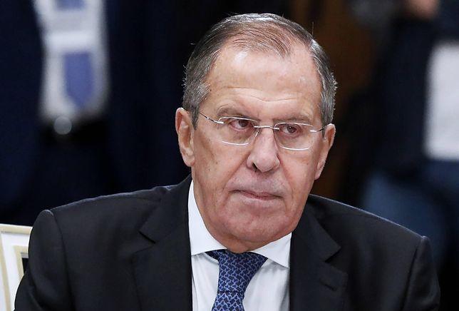 Do doniesień Siergiej Ławrow odniósł się na konferencji prasowej w Soczi