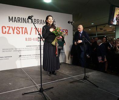 Marina Abramović na wernisażu w Toruniu, 7 marca 2019 r.