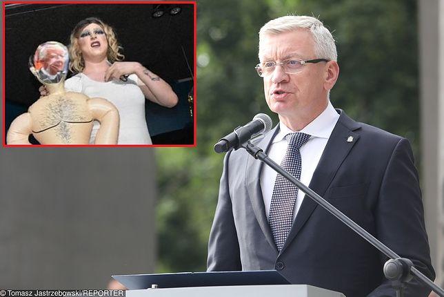 Jacek Jaśkowiak o występie drag queen.