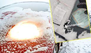 Za wycieraczką mandat, na szybie śnieg, a za nią... abonament. Urzędnicy mówią, że kontrolerzy nie są od odśnieżania