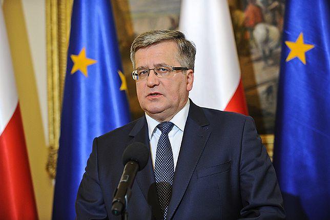 Bronisław Komorowski: UE powinna przemyśleć zaostrzenie sankcji wobec Rosji