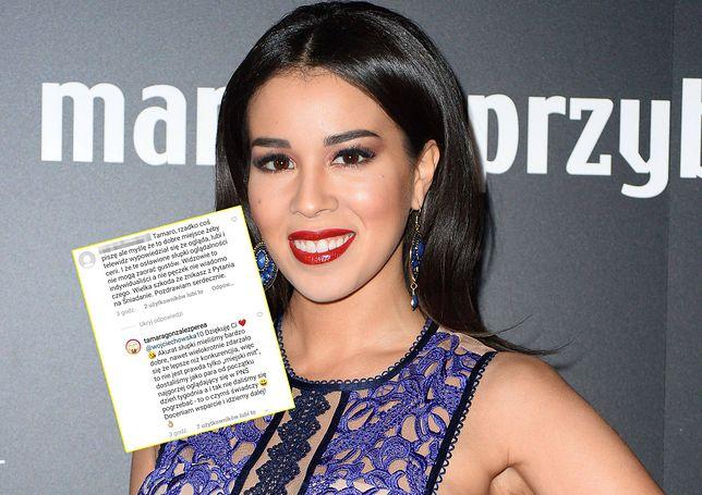 Tamara Gonzales nie ukrywa zaskoczenia decyzją TVP. Oficjalne powody stacji podważyła na Instagramie