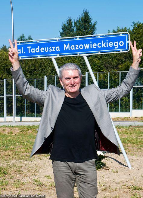 Odsłonięcie alei Tadeusza Mazowieckiego w Lublinie