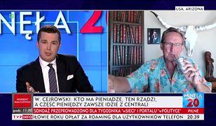 Wojciech Cejrowski i Michał Rachoń w TVP INFO