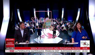 """Screen z programu TVP Info """"Studio Polska"""""""