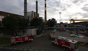 Pożar elektorciepłowni w Warszawie