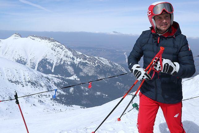 Andrzej Duda jest znany ze swojego narciarskiego hobby