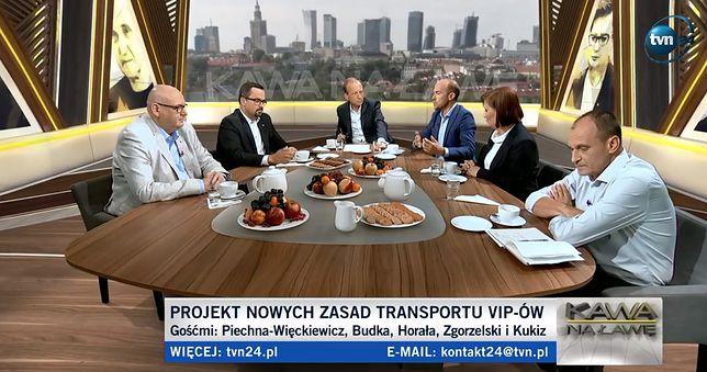 """Loty Marka Kuchcińskiego, dymisja, zmiany przepisów. Dyskusja w TVN24. """"Żenujący spektakl"""""""