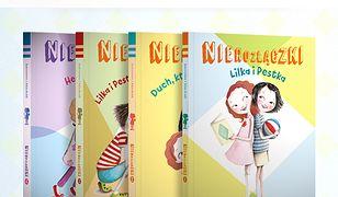 """Z cyklu """"Nierozłączek"""" powstało kilka tomów książek dla najmłodszych"""