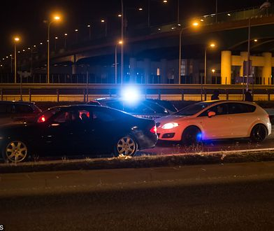 Warszawa. Nielegalne wyścigi samochodów
