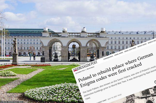Zagraniczna prasa pisze o planach odbudowy Pałacu Saskiego