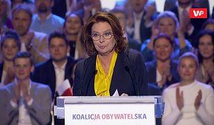 Konwencja KO. Małgorzata Kidawa-Błońska o swoim rządzie: będzie przełomowy