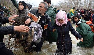 Uchodźcy na greckiej granicy w 2016 r.