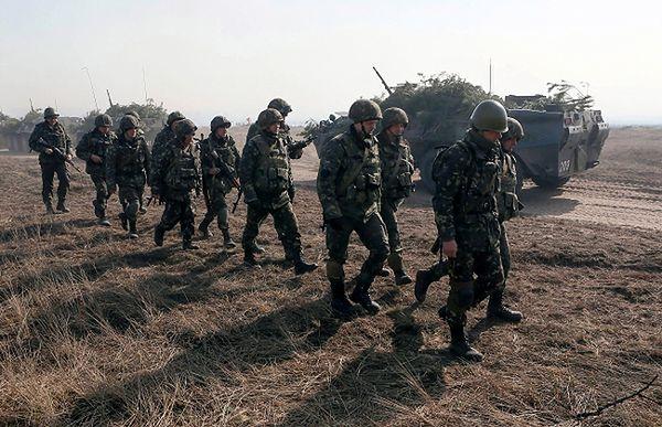 Ukraińscy żołnierze na Krymie