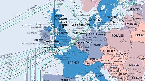Główne arterie Internetu na mapie Świata