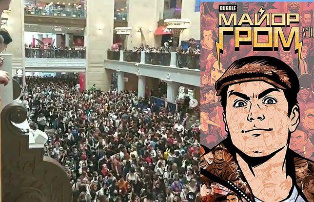 """Szalone tłumy w Moskwie podczas promocji komiksu z serii """"Major Grom"""""""
