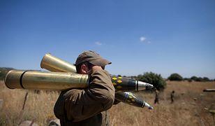 Żołnierz izraelski niedaleko granicy z Syrią