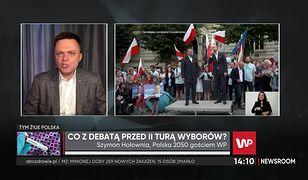 Wybory prezydenckie 2020. Szymon Hołownia o sporze o debatę: Fochy i obsikiwanie terytorium