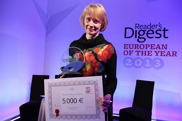 Agnieszka Romaszewska-Guzy odebrała nagrodę Reader's Digest