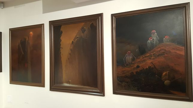 Prace Z. Beksińskiego w sanockim muzeum