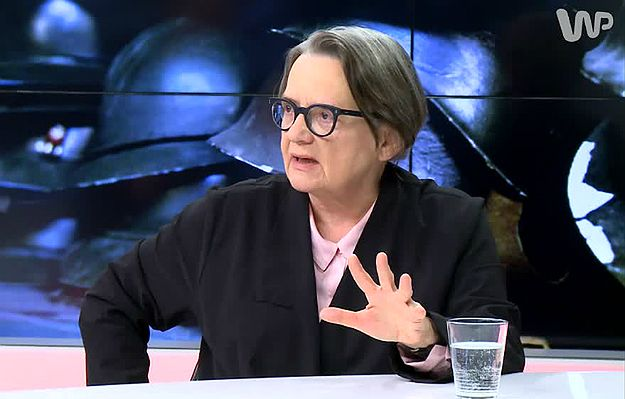 Agnieszka Holland w #dziejesienazywo: nie zrobiłabym filmu dla ministra Glińskiego, nie wolno przekłamywać faktów