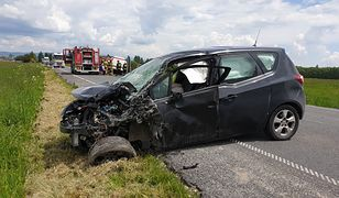 Do wypadku w Czarnym Dunajcu na drodze wojewódzkiej nr 958