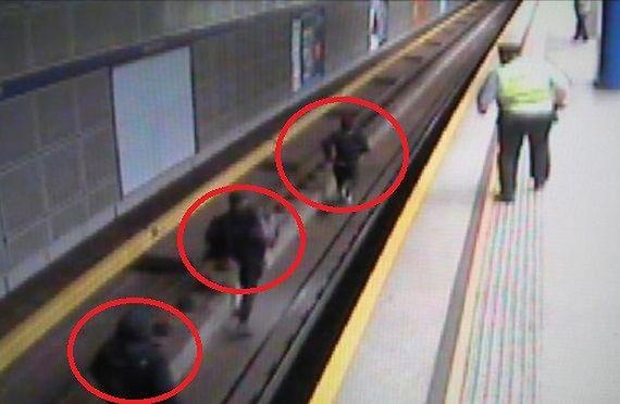 Grafficiarze wdarli się na tory metra. Wśród nich 26-letni Hiszpan
