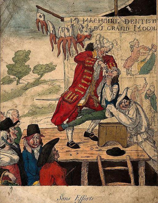 Pokazy usług dentystycznych przez stulecia cieszyły się popularnością