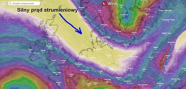 Niże wędrowne i prąd strumieniowy - przyniosą nam zmiany w pogodzie. Sztorm na Bałtyku