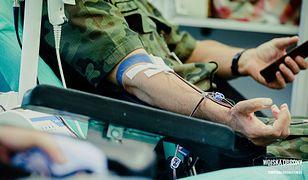 Mazowsze. Żołnierze oddają krew (fot. Wojska Obrony Terytorialnej)