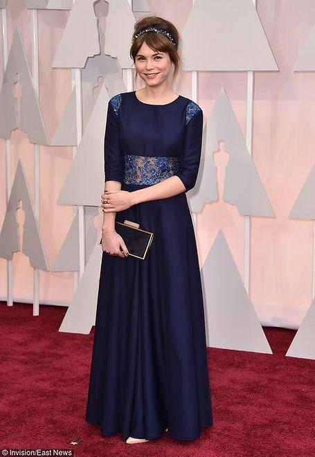 Agata Trzebuchowskaw sukience Horror! Horror! na gali rozdania Oscarów