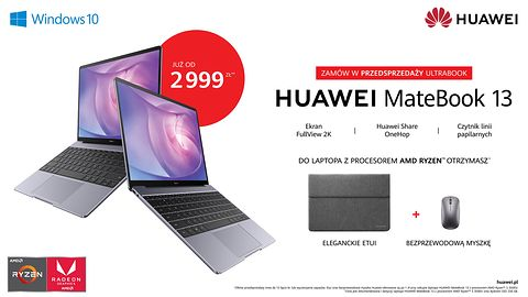 Huawei Matebook 13 doczekał się procesora AMD. Jest jedno ale