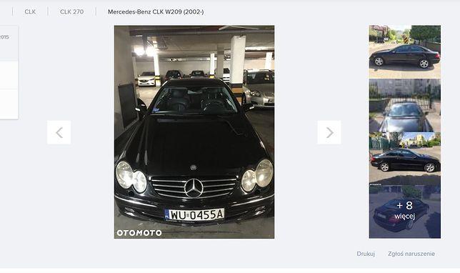 Niecodzienne ogłoszenie staje się hitem w sieci. Mercedes CLK na sprzedaż