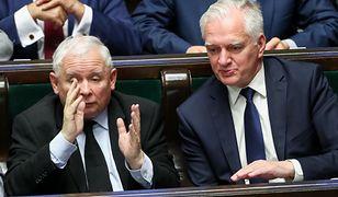 Sejm. Jarosław Kaczyński i Jarosław Gowin