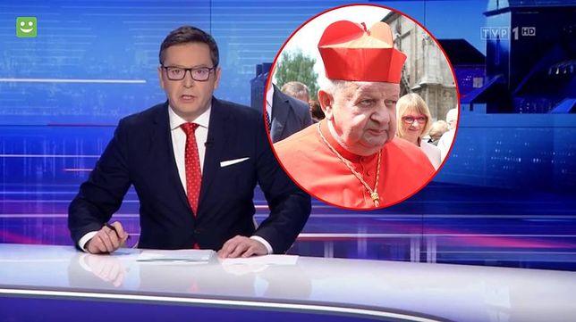 """Michał Adamczyk gospodarz wtorkowego wydania """"Wiadomości"""" TVP"""