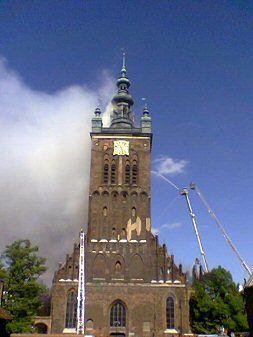Gaszenie pożaru kościoła