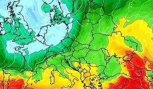 Pogoda. W sobotę od zachodu zacznie napływać chłodne powietrze polarne (wxcharts.com)