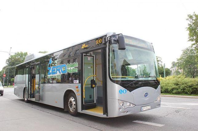 MZA testuje nowy elektryczny autobus z Chin