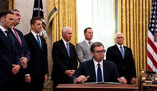 USA. Przywódcy Serbii i Kosowa podpisali porozumienie. Pewien gest wzbudził falę komentarzy