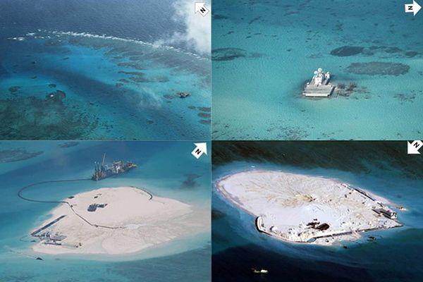 Chiny przechodzą do ofensywy na M. Południowochińskim. Budują sztuczne wyspy w archipelagu Spratly