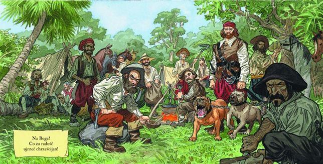 """Kadr z komiksu """"Indyjska włóczęga"""", scen. Alain Ayroles, rys. Juanjo Guarnido"""