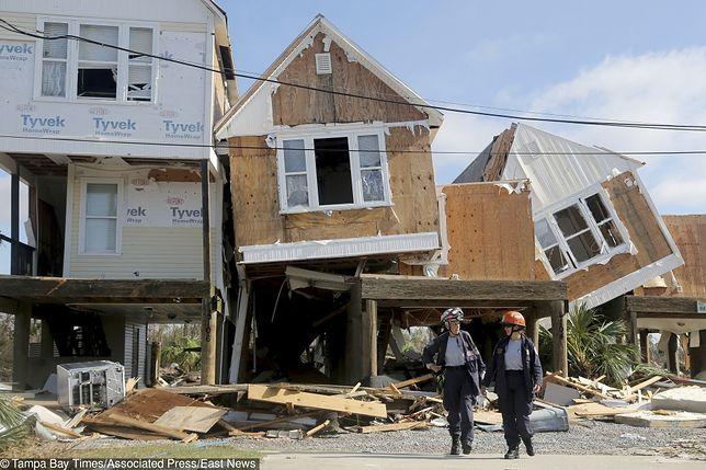Siłę żywiołu pokazują zniszczenia w Mexico Beach