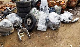 """Części motocyklowe za 180 tys. zł i 4 aresztowanych. Policja odkryła """"dziuplę"""""""