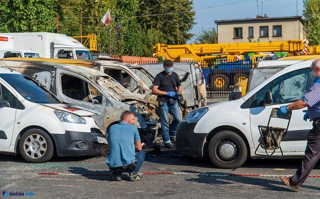 Bielsko-Biała. Spłonęło 9 aut